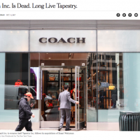 美國精品品牌Coach 改名Tapestry 股價狂跌2.83%