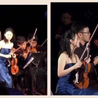 Violinist storms out of National Day show to protect violin from rain