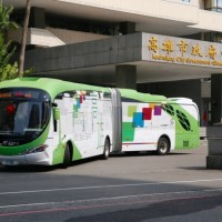 Taiwan's 1st articulated electric buses start trial run in Kaohsiung
