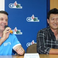 Taiwanese ex-MLB pitcher Wang Chien-ming opens a pitching camp in Taipei