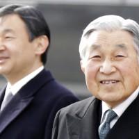日本天皇(右)和皇太子(左)(圖片來源:美聯社)