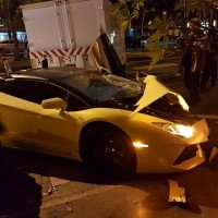 Whammo! NT$10 million Lambo totaled, 3 injured