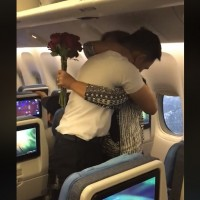 A heartwarming embrace of a mother and son - Philippine Airlines crew member surpriseshis mom onflight home for Christmas
