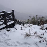 Taiwan's Xueshan and Hehuanshan seefirst snowfall of 2018