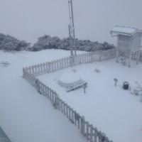 Snow falls on Taiwan'sYushan