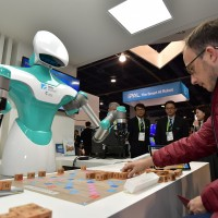 Taiwan's smart scrabble-playing robot steals the show at CES in Las Vegas