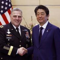 安倍見美國陸軍參謀長 強調美日同盟重要
