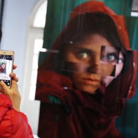 """Photographer of """"Afghan Girl"""" fame exhibits work in Taiwan"""