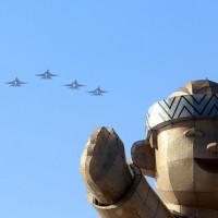 F-16 flight formation delights crowds at Taiwan Lantern Festival