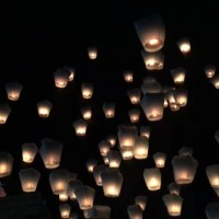 Pingxi Sky Lantern Festival 2018 illuminates night