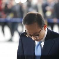 南韓涉貪前總統李明博出庭 仍強調自身清白