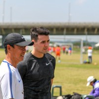 English footballer Tim Chow supports Taipei youth soccer camp