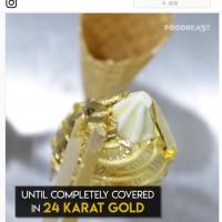 金色口紅新時尚?美國業者推24k純金冰淇淋