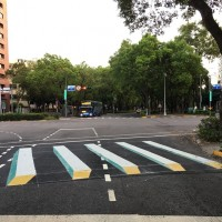 Taipeipaints 3D Zebra Crossing to slow drivers down