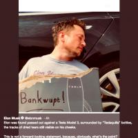 Elon Musk declares Tesla bankrupt