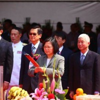 Taiwan's President joins groundbreaking ceremony for military port relocation project