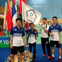 台灣羽球小將 世中運團體賽擊敗中國隊奪冠