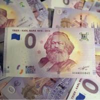 紀念馬克思200歲冥誕 德國發行0€歐元紙幣超搶手