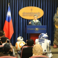 Darth Vader, Chewbacca visit Taiwan's Presidential Office to mark Star Wars Day