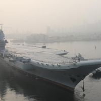 China's new aircraft carrier begins sea trials near Dalian