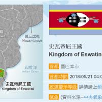 非洲友邦史瓦濟蘭更名:「史瓦帝尼王國」
