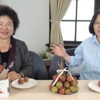 蔡英文、陳菊直播賣荔枝 籲網友「用新臺幣讓玉荷包下架」