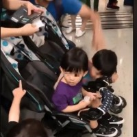 Video shows mentally disabled man slap child and mother retaliate on Taipei MRT