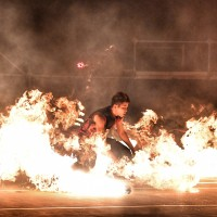 Taiwan fire dancers dazzle audience