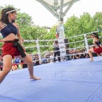 Thai boxing competition in Taoyuan, Taiwan draws large crowds