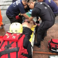 Fishing party rescued from the ocean nearYehliu Geopark in New Taipei City