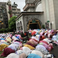 Eid Mubarak! Hundreds of people celebrating Eid at Taiwan's largest mosque