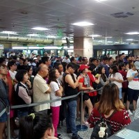 Taiwan's Penghu Airport crowded with outbound travelers after boat services suspended for five days