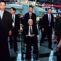 Former Taiwan President Lee Teng-hui arrives in Japan's Okinawa