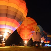 Hot air balloons illuminate summer nights in Taiwan
