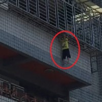 Video shows dramatic rescue of 4-year-old boy from 5th floor in southern Taiwan