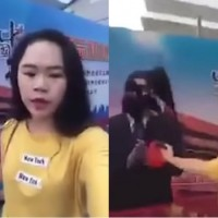 Live video shows Chinese streamer splash ink on Xi Jinping poster