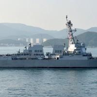 美軍艦7、8日航經臺灣海峽 國防部:全程掌握因應