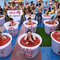 Spicy pepper challenge in Chongqing, China