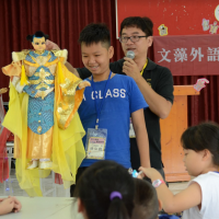 Students in Vietnam awed by Taiwanese glove puppetry