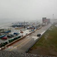瑪莉亞颱風直撲馬祖 引發海水倒灌與零星災情