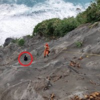 Woman trapped for 14 hours on sea slope during Typhoon Maria rescued in eastern Taiwan