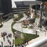墨西哥購物中心倒塌 民衆快逃無人傷亡