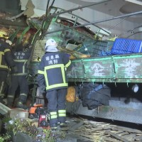 Exhausted truck driver crashes into Taipei furniture store