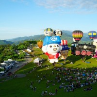 OhBear balloon takes off at Taiwan International Balloon Festival in southern Taiwan