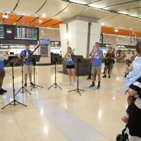 美青年交響樂團高鐵站快閃 讓台灣民眾「與藝術不期而遇」