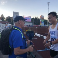 Taiwanese javelin thrower wins gold medal in Sweden