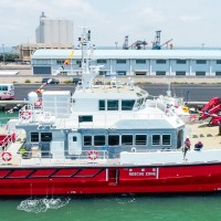 Taiwan's first wind powered boat launched in central Taiwan