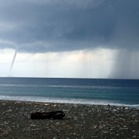 Waterspouts spotted off Taiwan's east coast