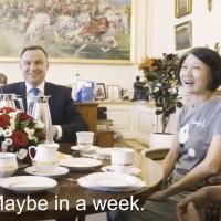 意外驚喜!台灣夫妻波蘭行 街上受邀入宮與總統杜達下午茶