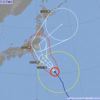 颱風「珊珊」直撲東京 7日傍晚開始大雷雨